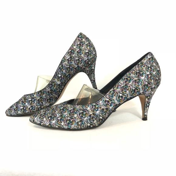 6e7fd77e06d4 Jacques Levine Shoes - Jacques Levine Glitter Heel Pumps Size 12 AA